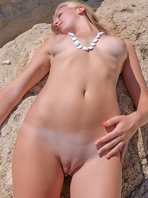 Juicy girl outdoors