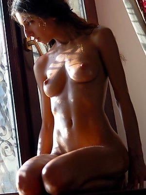 Nude Honey on Windowsill